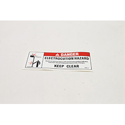 DECAL,DANGER,ELEC.HAZARD (PN 97547)