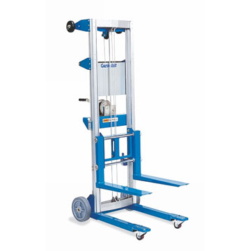 "GENIE Model GL-4 GENIE LIFT with STANDARD BASE,  STD 8"" Rear Wheels, 2"" Front Casters and Forks."